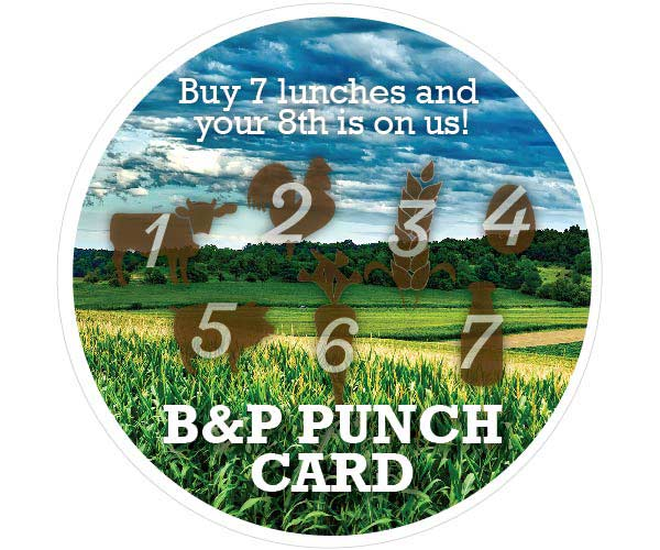 BP Promotions Punch Card